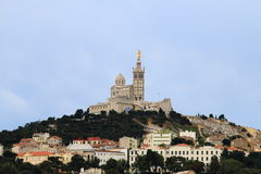 Virgin Mary upon Notre Dame de la Garde bell tower, Marseille Stock Image