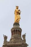 Virgin Mary, Notre Dame de la Garde bell tower, Marseille Stock Photography