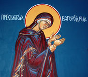Virgin mary,ortodox fresco. Pic of virgin mary,ortodox fresco Stock Photography