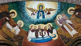 Virgin Mary& x27;s life stock photos