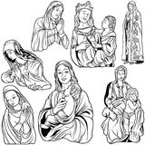 Virgin Mary Set Royalty Free Stock Photography