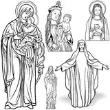 Virgin Mary Set Stock Images