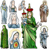 Virgin Mary Set Stock Photos