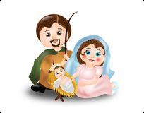 Virgin Mary, St. Joseph and baby Jesus Royalty Free Stock Photo