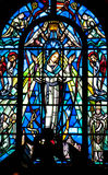 Virgin Mary Stained Glass Window Royalty Free Stock Photography