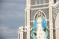 Virgin mary statue Royalty Free Stock Photo