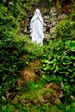 Virgin Mary Statue. A statue of Virgin Mary on a hill surrounded by foliage Royalty Free Stock Photos