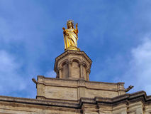 Virgin Mary statue in Avignon, The Popes' Palace, France Royalty Free Stock Photo