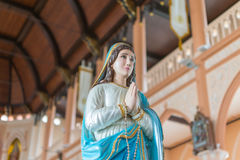 The Virgin Mary statue. At The Cathedral of the Immaculate Conception is a Roman Catholic Diocese of Chanthaburi Stock Images