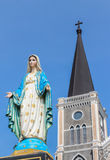 Virgin mary statue at the catholic church. Royalty Free Stock Photography