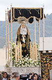 Virgin Mary Statue on a float Stock Photography