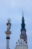 Virgin Mary statue at Jasna Gora monastery Stock Photo