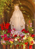 Virgin Mary Statue Mission San Buenaventura Ventura California Stock Images