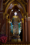 Virgin Mary Statue in Roman Catholic Church Stock Image