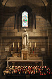 Virgin Mary statue in the Saint Nicholas Cathedral stock photos