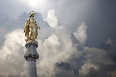 Virgin Mary Statue Stock Photos