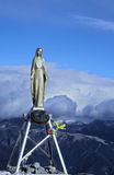 Virgin Mary statue on the top of the mountain. Royalty Free Stock Images