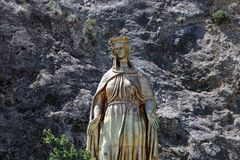 Virgin Mary Statue. Near The House of the Virgin Mary in Turkey stock image