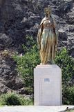 Virgin Mary Statue. Near The House of the Virgin Mary in Turkey royalty free stock image