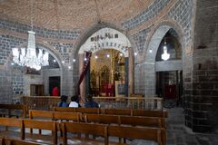 Free Virgin Mary Syriac Orthodox Church In Diyarbakir, Turkey. Detail From Inside The Church. Stock Image - 184223851