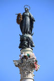 Virgin Mary on top at Piazza di Spagna in Rome, Italy Royalty Free Stock Photography