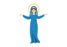 Virgin Mary vector Royalty Free Stock Photos