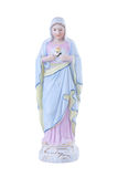 Virgin Mary vintage porcelain statue Royalty Free Stock Image
