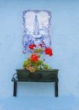 Virgin Mary on the walls of Burano, Venice Royalty Free Stock Photography