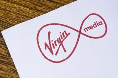 Virgin Media logo Obrazy Stock