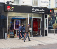 Virgin Media Shop in Leeds. Royalty Free Stock Images