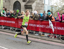 Virgin Money London Marathon. 24th April 2016. The second half of the London Marathon is full of amazing people who run to raise money for a charity of their Royalty Free Stock Photography