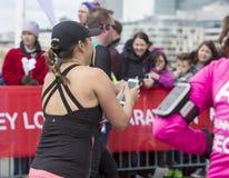 Virgin Money London Marathon. 24th April 2016. Royalty Free Stock Photo
