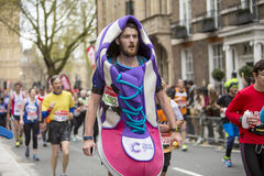 Virgin Money London Marathon. 24th April 2016. The second half of the London Marathon is full of amazing people who run to raise money for a charity of their Stock Photography