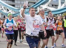 Virgin Money London Marathon, 24th April 2016. The second half of the London Marathon is full of amazing people who run to raise money for a charity of their Stock Photo