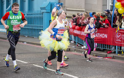 Virgin Money London Marathon, 24th April 2016. The second half of the London Marathon is full of amazing people who run to raise money for a charity of their Royalty Free Stock Photo