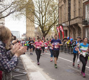 Virgin Money London Marathon, 24th April 2016. The second half of the London Marathon is full of amazing people who run to raise money for a charity of their Stock Image