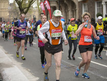 Virgin Money London Marathon, 24th April 2016. The second half of the London Marathon is full of amazing people who run to raise money for a charity of their Royalty Free Stock Photos