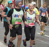Virgin Money London Marathon. 24th April 2016. London, United Kingdom - April 24, 2016: The London Marathon. The second half of the London Marathon is full of Stock Images