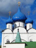 The Virgin Nativity Cathedral in the  town of Suzdal in Russia. A view of the town of Suzdal' in Russia. The town is about 1000 years old and belongs to the Stock Photography