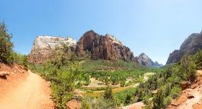 Virgin nature paniramic view of Zion National Park Stock Photos