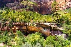 Virgin nature paniramic view of Zion National Park Royalty Free Stock Photography