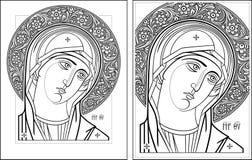 Virgin Oplechnaya outline11-12  picture Stock Images