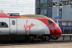 Virgin Pendolino train leaves Manchester Piccadilly Stock Photos