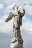 Virgin of Quito Statue on Panecillo Hill, Ecuador Stock Photo