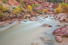 Virgin River in Autumn Stock Photo