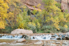 Virgin River Autumn Scenic Royalty Free Stock Photography