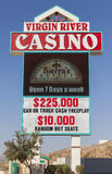 The Virgin River Casino Sign in Mesquite, NV on May 24, 2013 Royalty Free Stock Image