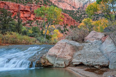 Virgin River in Fall Royalty Free Stock Images