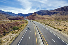 Virgin River Gorge. Interstate Highway 15 climbs the Virgin River Gorge through the Paiute Wilderness at Exit 18 in Arizona Stock Images