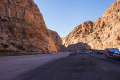 Virgin River Gorge Pass Royalty Free Stock Images